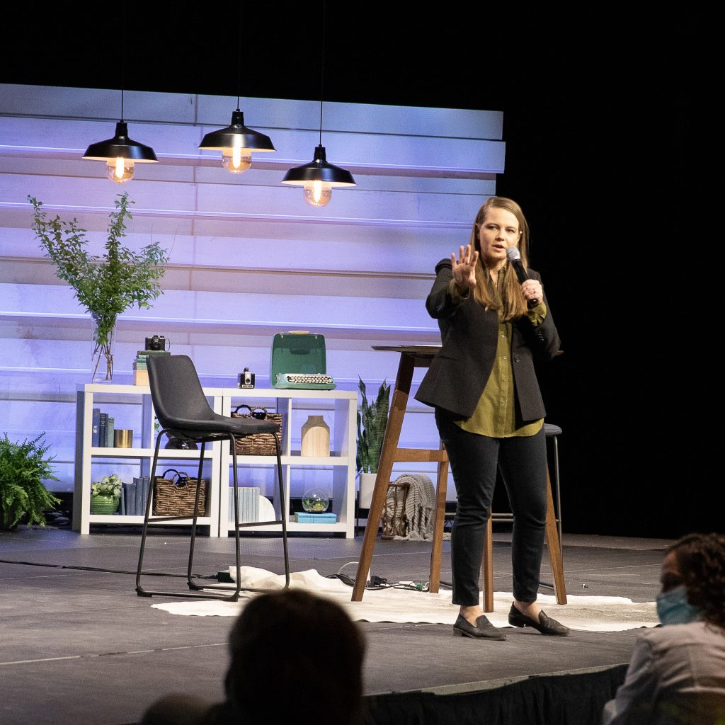 Emily Chapman Richards presenting at Show Hope's Hope for the Journey Conference